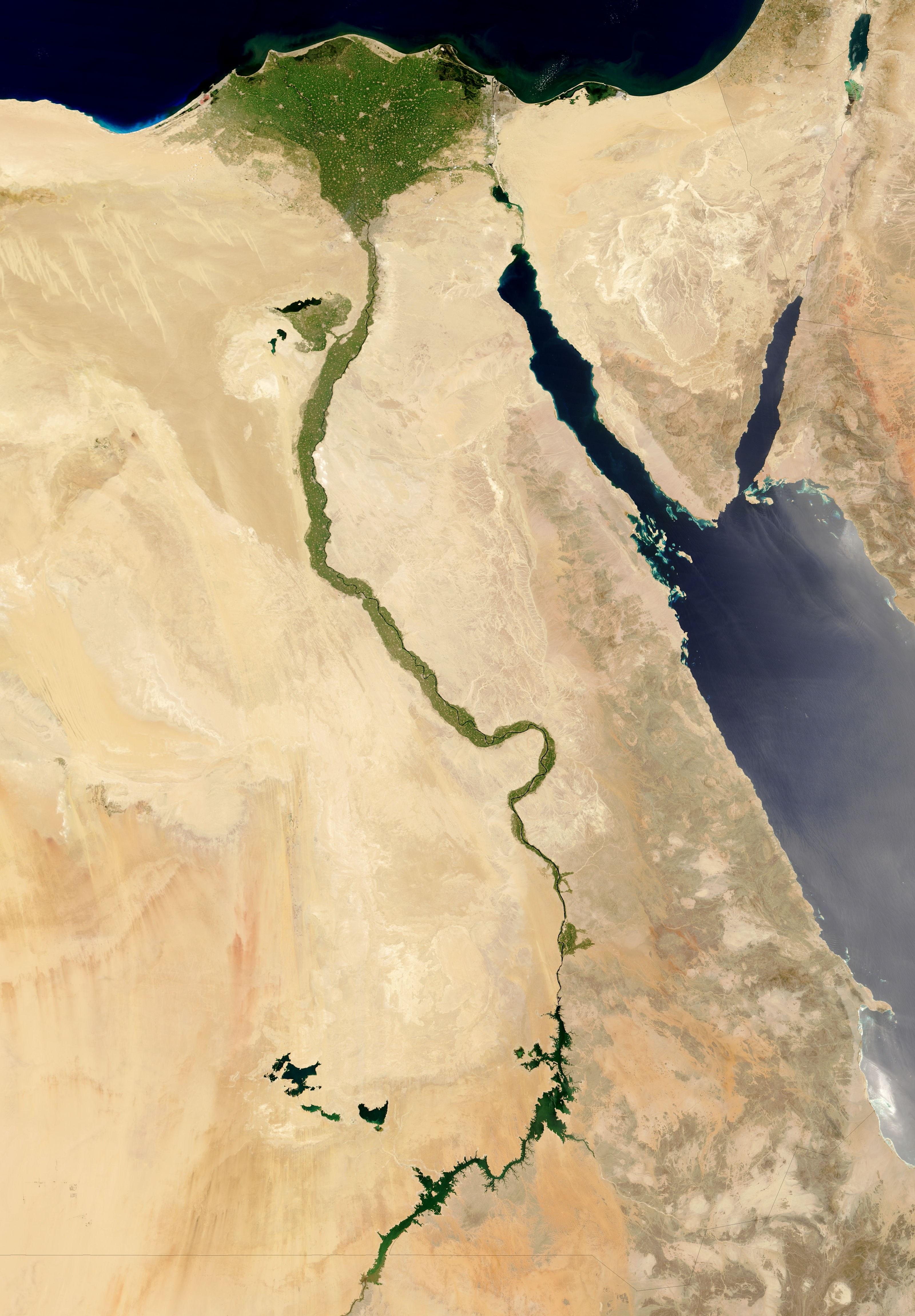 The Nile Egypt Nasa Visible earth
